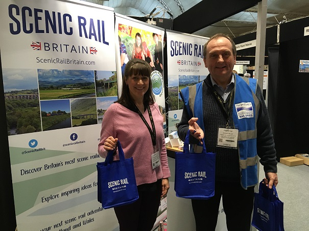Scenic Rail stand at Excursions show